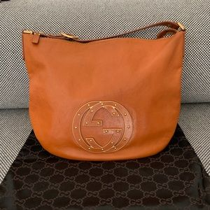 Gucci Studded Blondie Leather Hobo + dustbag